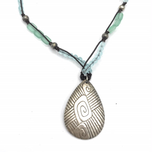 Retired ~ Glass Bead /& Sterling Silver Necklace SILPADA Jewelry